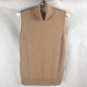 Cable & Gauge Turtle Neck Tank Top Sweater S